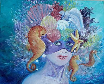Painting - Sister Sea Guardian  by Patti Lane
