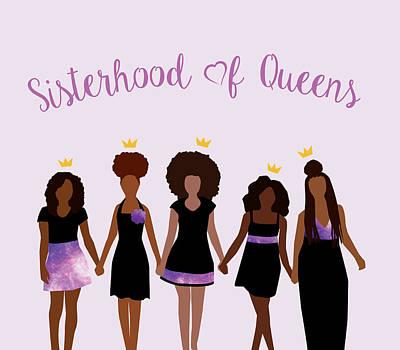 African-american Digital Art - Sisterhood Of Queens by Karissa Tolliver