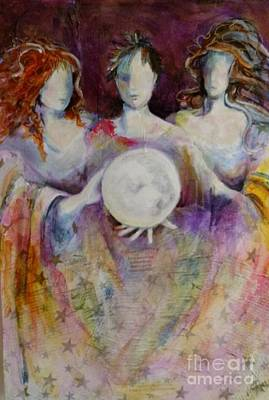 Painting - Sisterhood Of The Moon by Sandra Taylor-Hedges