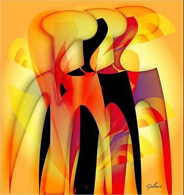 Sisters 4 Art Print by Iris Gelbart