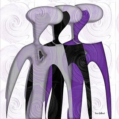 Digital Art - Sisters 8 by Iris Gelbart
