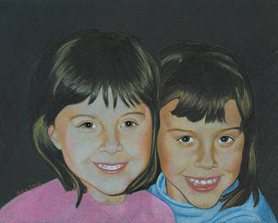 Print featuring the drawing Sisters  by Ana Tirolese