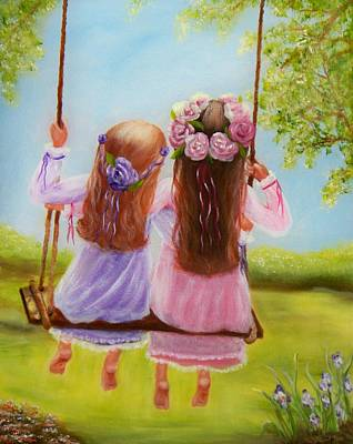 Playground Painting - Sisters And Friends Forever by Joni McPherson