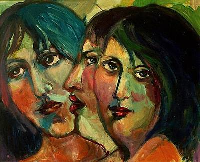 Painting - Sisters by Anne Marie Bourgeois