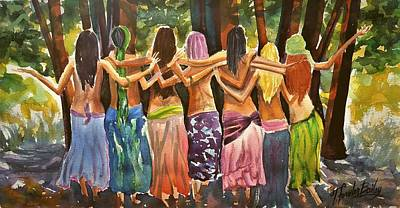 Painting - Sisters Au Naturale by Therese Fowler-Bailey