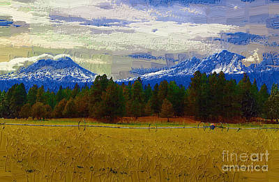 Painting - Sisters Cascade Range by Diane E Berry
