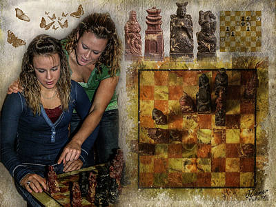 Sisters - Checkmate In 2 Art Print by Jim Ziemer