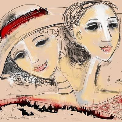Digital Art - Sisters by Elaine Lanoue