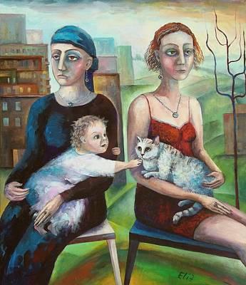 Sisters Art Print by Elisheva Nesis