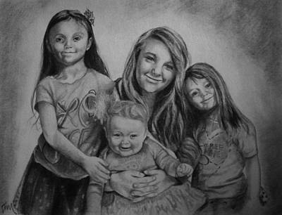 Drawing - Sisters by Emily Maynard