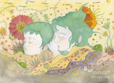 Painting - Sisters by Fumiyo Yoshikawa