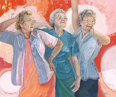 Painting - Sisters by GayLynn Ribeira