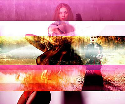 Digital Art - Sisters by John Rizzuto