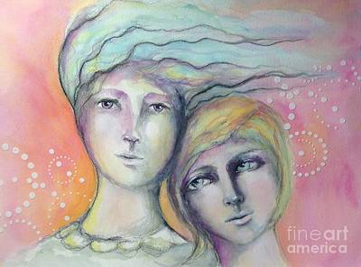 Painting - Sisters Joy by Pamela Vosseller