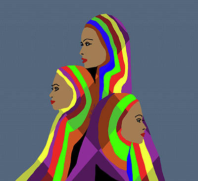 Sisters Art Print by Kate Farrant