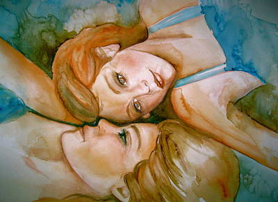 Sisters Art Print by L Lauter