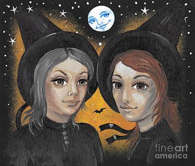 Portrait Of Evil Painting - Sisters  by Margaryta Yermolayeva