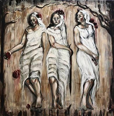 Sisters Of Mercy Art Print by Carrie Joy Byrnes