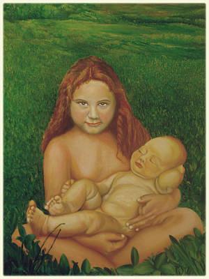 Sisters Of Mine Art Print by Ibrahim Rahma
