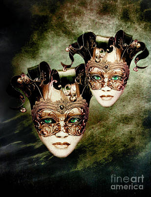 Green Eyes Digital Art - Sisters by Jacky Gerritsen