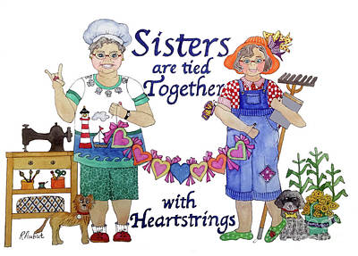 Painting - Sisters by Rosemary Aubut