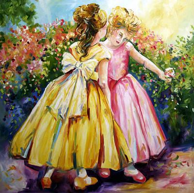 Sisters Secrets Art Print