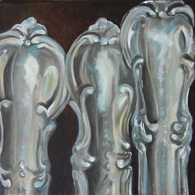 Sterling Silver Painting - Sisters Sterling by Amy Higgins