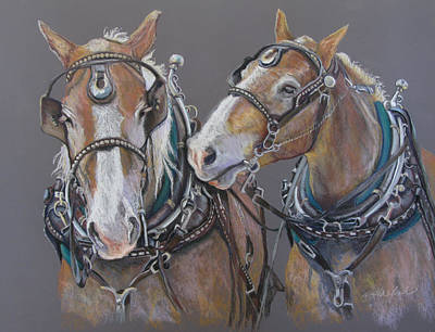 Pastel - Sisters Whisper by Carole Haslock