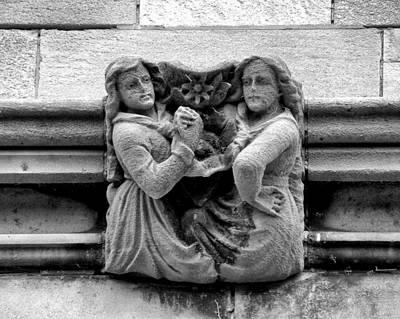 Sisters With A Cause Gargoyle Univ Of Chicago 2009 Art Print by Joseph Duba