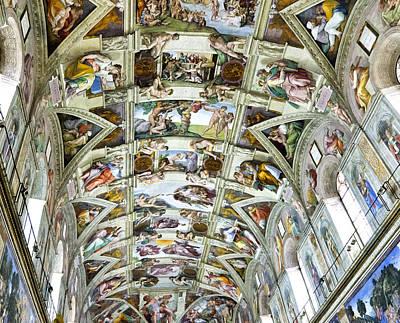 Sistine Photograph - Sistine Chapel by Jon Berghoff