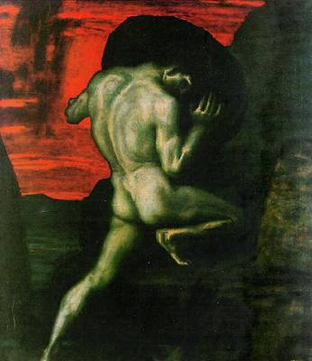Painting - Sisyphus by Franz von Stuck