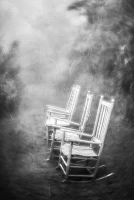 Photograph - Sit A Spell - Bw by Joye Ardyn Durham