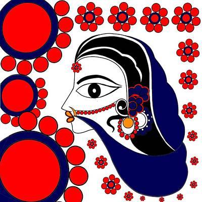 Painting - Sita In Vatika by Pratyasha Nithin