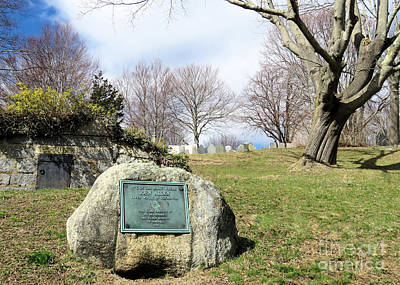 Photograph - Site Where John Alden Lived While In Plymouth Ma by Janice Drew