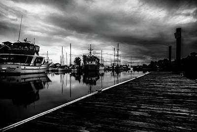 Bay Photograph - Sittin On The Dock by Marnie Patchett