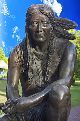Photograph - Sitting American Native Indian Y1 by Carlos Diaz
