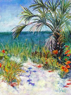 Naples Beach Wall Art - Painting - Sitting At Wiggins Pass by Laurie Paci