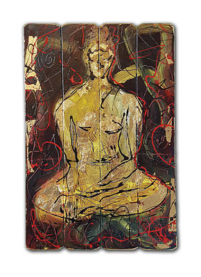 Painting - Sitting Buddha by Martin Bush