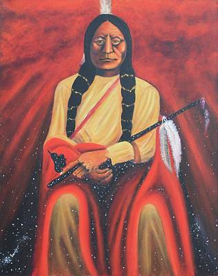 Painting - Sitting Bull - Siuox Shaman by Art Enrico
