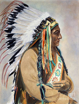 Sitting Bull (1834-1890) Art Print by Granger