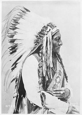 Painting - Sitting Bull 1885 by Celestial Images