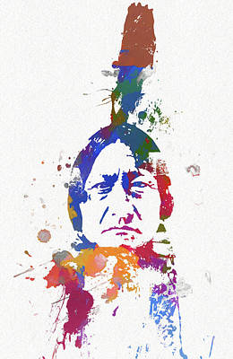 Painting - Sitting Bull by Dan Sproul