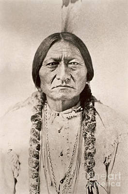 Sitting Bull  Art Print by David Frances Barry