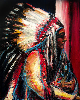 Sitting Bull Art Print by Frank Botello