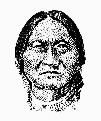 Digital Art - Sitting Bull Graphic by War Is Hell Store