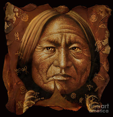Sitting Bull Art Print by Jurek Zamoyski