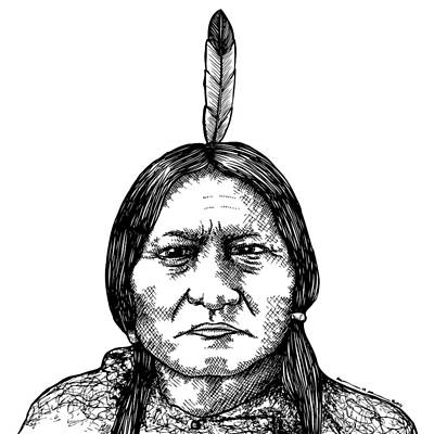 Sitting Bull Art Print by Karl Addison