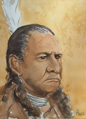 Sitting Bull Art Print by Pete Maier