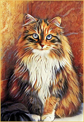Painting - Sitting Cat by Gary Grayson