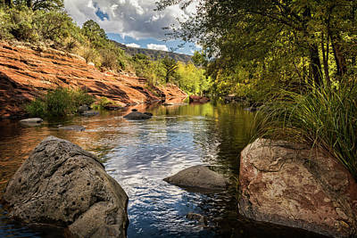 Photograph - Sitting Creekside Oak Creek  by Saija Lehtonen